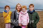 Grace Keane, Maresa Locke, Isabelle Keane and MJ Locke enjoying a stroll on Fenit beach on Friday.