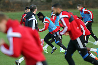Pictured: Wilfried Bony (C) Wednesday 10 December 2014<br />