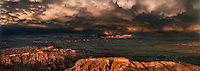 904000030 panoramic view of amazing storm clouds formed over the paunsaugunt plateau during a monsoon summer thunderstorm in bryce canyon national park utah united states