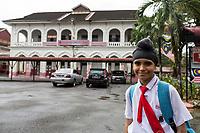 Young Sikh Student at Edward VII School, Taiping, Malaysia.