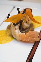 Europe/France/Rhone-Alpes/73/Savoie/Courchevel: Grosse langoustine rotie à l'huie de Zan recette de  Michel Rochedy , Hôtel-Restaurant :Le Chabichou