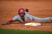 Ball State Cardinals infielder Elbert Devarie (31) during a game against the Dartmouth Big Green on March 7, 2015 at North Charlotte Regional Park in Port Charlotte, Florida.  Ball State defeated Dartmouth 7-4.  (Mike Janes/Four Seam Images)