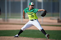 Arthur Soto during the Under Armour All-America Pre-Season Tournament, powered by Baseball Factory, on January 19, 2019 at Fitch Park in Mesa, Arizona.  Arthur Soto is an outfielder / right handed pitcher from Scotts Valley, California who attends Archbishop Mitty High School.  (Mike Janes/Four Seam Images)