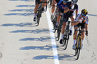 11th September 2021: Trento, Trentino–Alto Adige, Italy: UEC Road European Womens Elite Cycling Championships; Shadow and cyclists
