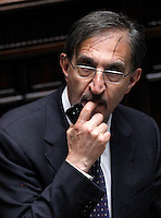 Il deputato di Fratelli d'Italia Ignazio La Russa durante la terza seduta comune di senatori e deputati per l'elezione del nuovo Capo dello Stato alla Camera dei Deputati, Roma, 19 aprile 2013..Brothers of Italy party' lawmaker Ignazio La Russa during the third common plenary session of senators and deputies to elect the new Head of State, at the Lower Chamber in Rome, 19 April 2013..UPDATE IMAGES PRESS/Isabella Bonotto