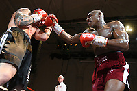 Dan Azeez (red shorts) defeats Ivo Zednicek during a Boxing Show at the Corn Exchange on 25th September 2021