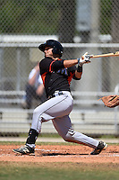 Miami Marlins Chris Hoo (11) during a minor league spring training game against the New York Mets on March 30, 2015 at the Roger Dean Complex in Jupiter, Florida.  (Mike Janes/Four Seam Images)