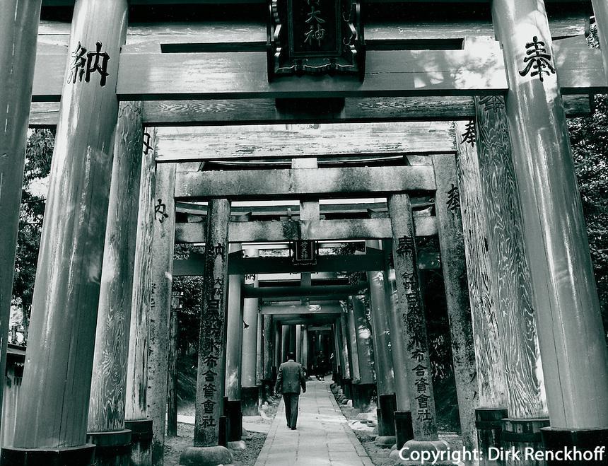 Torii im Fushimi-Inari-Schrein in Kyoto, Japan