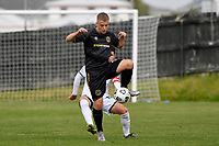 Haris Zeb of Team Wellington during the ISPS Handa Men's Premiership - Team Wellington v Hawke's Bay United at David Farrington Park, Wellington on Saturday 21 November 2020.<br /> Copyright photo: Masanori Udagawa /  www.photosport.nz