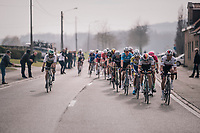 World Champion Peter Sagan (SVK/Bora-Hansgrohe) checking out the competition during the race finale<br /> <br /> 81st Gent-Wevelgem in Flanders Fields (1.UWT)<br /> Deinze > Wevelgem (251km)
