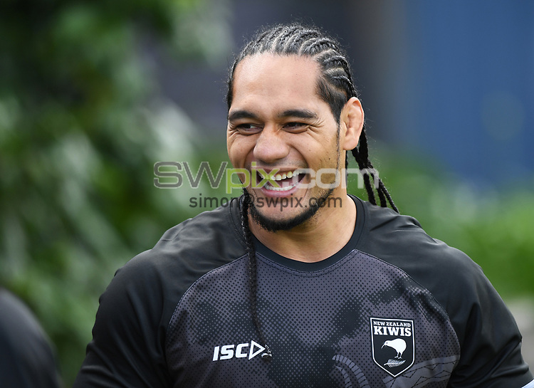 Martin Taupau.<br /> Kiwis Rugby League training at Mt Smart Stadium ahead of the upcoming test match against the Australian Kangaroos this weekend. Auckland, New Zealand. Monday 8 October 2018. © Copyright photo: Andrew Cornaga / www.photosport.nz