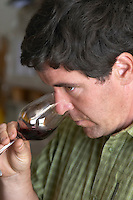 Philippe Gard Domaine Coume del Mas. Banyuls-sur-Mer. Roussillon. Owner winemaker. France. Europe. Wine glass.