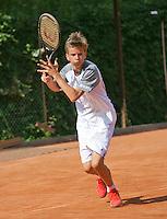 August 4, 2014, Netherlands, Dordrecht, TC Dash 35, Tennis, National Junior Championships, NJK,  Alec Deckers (NED)<br /> Photo: Tennisimages/Henk Koster