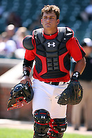 August 18 2008:  Josh Elander (8) of the Team One team during the 2008 Under Armour All-American Game at Wrigley Field in Chicago, IL.  Photo by:  Mike Janes/Four Seam Images
