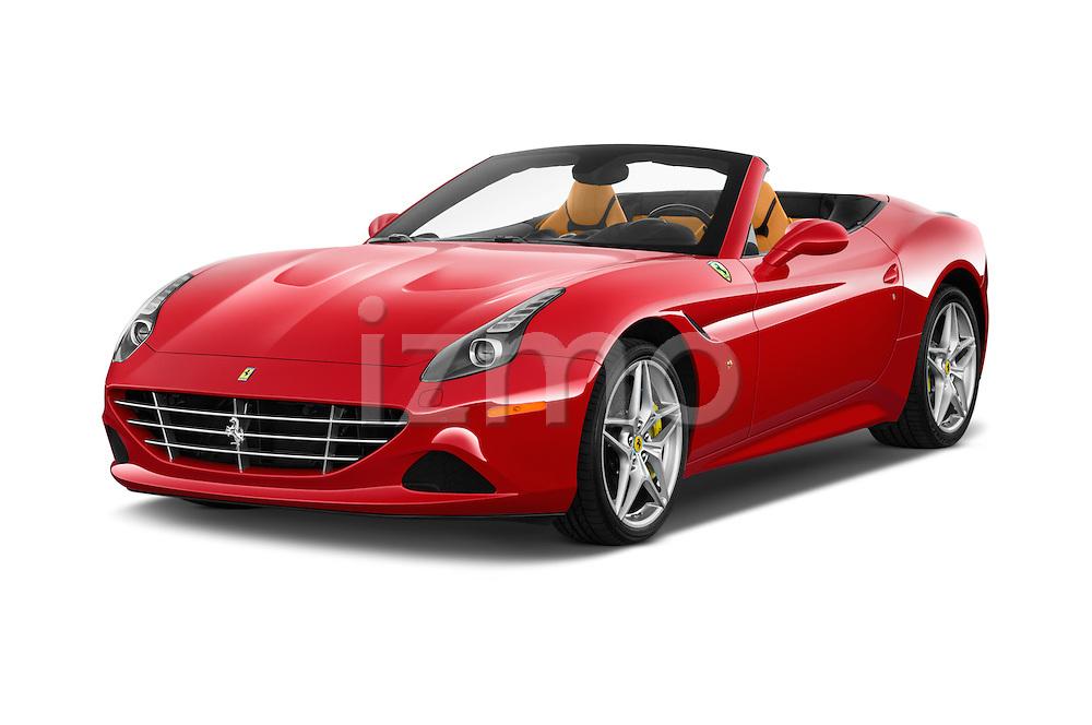 2015 Ferrari California T 2 Door Convertible Angular Front stock photos of front three quarter view