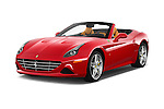 2015 Ferrari California T 2 Door Convertible Angular Front stock photos of front three quarter view