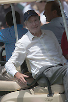 PONTE VEDRA BEACH, FL - MAY 6: Former president George H. W. Bush leaves the 17th tee after watching part of the practice session on Wednesday, May 6, 2009 for the Players Championship, beginning on Thursday, at TPC Sawgrass in Ponte Vedra Beach, Florida.  President Bush was on-hand to receive the PGA Tour's Lifetime Achievement Award later in the day.