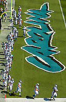 09/16/07 :  Carolina Panthers players take the field in Bank of America stadium before the start of their 2007 season opener against the Houston Texans.  ...The Carolina Panthers, professional American NFL football team that represents both North Carolina and South Carolina, is based in Charlotte, North Carolina. The Panthers began playing in 1995 as part of the National Football League?s expansion program. They are members of the National Football Conference (NFC) South Division. They play in the Bank of America Stadium, located in downtown Charlotte.