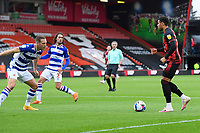 Arnaut Danjuma of AFC Bournemouth right takes on Michael Morrison of Reading during AFC Bournemouth vs Reading, Sky Bet EFL Championship Football at the Vitality Stadium on 21st November 2020