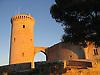 Tower of the Bellver Castle (1300-1310) in Palma de Majorca<br /> <br /> Torre del Homenaje Torre de l'Homenatge)del Castillo de Bellver (cat.: Castell Bellver) (1300-1310) in Palma de Mallorca<br /> <br /> Turm des Schloss Bellveder (1300-1310)