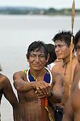 Altamira, Brazil. Ire-o Kayapo, a warrior from A-Ukre village.