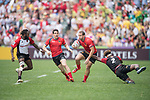 Spain vs Papua New Guinea during their Pool G match as part of the HSBC Hong Kong Rugby Sevens 2017 on 08 April 2017 in Hong Kong Stadium, Hong Kong, China. Photo by Weixiang Lim / Power Sport Images