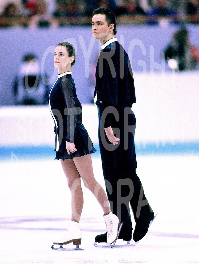 Ekaterina Gordeeva and Sergei Grinkov of Russia skate during the 1994 Winter Olympics in Lillehamer, Norway. Photo copyright Scott Grant