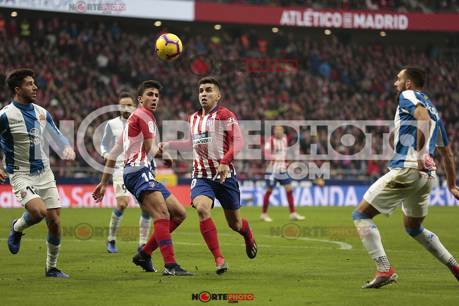 Atletico de Madrid's Angel Martin Correa during La Liga match between Atletico de Madrid and RCD Espanyol at Wanda Metropolitano Stadium in Madrid, Spain. December 22, 2018. (ALTERPHOTOS/A. Perez Meca) /NortEPhoto.com