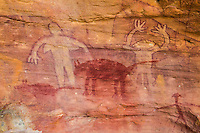 Aboriginal rock art at Split Rock in Queensland, Australia