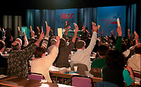 Montreal (Qc) CANADA - 1995 File Photo - April 1995 - Bloc Quebecois convention,