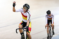 Corbin Strong finishes first in the Men Elite Omnium Points Race 25km during the 2020 Vantage Elite and U19 Track Cycling National Championships at the Avantidrome in Cambridge, New Zealand on Saturday, 25 January 2020. ( Mandatory Photo Credit: Dianne Manson )