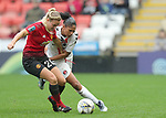 Kirsty Smith of Manchester United Women Women and Gemma Bryan of Charlton Athletic Women