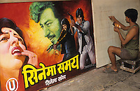 INDIA, Mumbai, Bombay, Bollywood cinema, Balkrishna Arts, hand painted movie poster, film poster Devdas