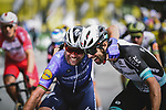 Mark Cavendish (GBR) Deceuninck-Quick Step and Michael Matthews (AUS) Team BikeExchange show some love after crossing the finish line of Stage 4 of the 2021 Tour de France, running 150.4km from Redon to Fougeres, France. 29th June 2021.  <br /> Picture: A.S.O./Pauline Ballet   Cyclefile<br /> <br /> All photos usage must carry mandatory copyright credit (© Cyclefile   A.S.O./Pauline Ballet)