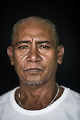 49 year old Tuna fisherman, Raul Balase poses for a portrait at the Casa, the Tuna buying house in Puerto Princesa, Palawan in the Philippines. <br /> Photo: Sanjit Das/Panos for Greenpeace