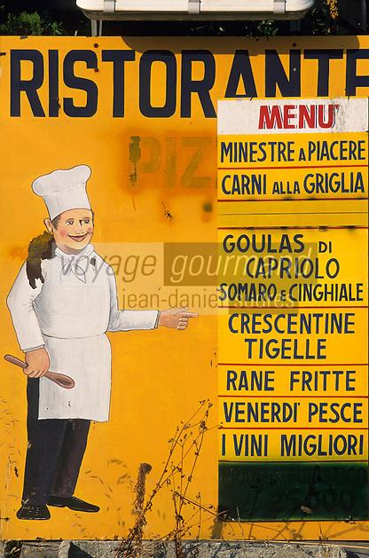 """Europe/Italie/Emilie-Romagne/Argelato : Menu du restaurant """"Oasis Verde"""""""