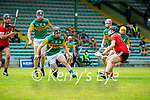 Maurice O'Connor, Kerry in action against Marc Fisher, Down during the National hurling league between Kerry v Down at Austin Stack Park, Tralee on Sunday.