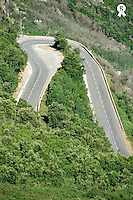 France, road on Corsica Island, elevated view (Licence this image exclusively with Getty: http://www.gettyimages.com/detail/200339725-001 )