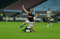 Josh Cullen of West Ham United is fouled during West Ham United vs Charlton Athletic, Caraboa Cup Football at The London Stadium on 15th September 2020