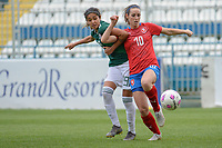 20190306 - LARNACA , CYPRUS : Czech  Kristyna Janku pictured during a women's soccer game between Czech Republic and Mexico , on Wednesday 6 March 2019  at the Antonis Papadopoulos Stadium in Larnaca , Cyprus . . This last game for both teams which decides for places 5 and 6 of the Cyprus Womens Cup 2019 , a prestigious women soccer tournament as a preparation on the Uefa Women's Euro 2021 qualification duels. PHOTO SPORTPIX.BE | STIJN AUDOOREN