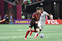 ATLANTA, GA - MARCH 07: ATLANTA, GA - MARCH 07: Atlanta United midfielder Matheus Rossetto dribbles the ball during the match against FC Cincinnati, which Atlanta won, 2-1, in front of a crowd of 69,301 at Mercedes-Benz Stadium during a game between FC Cincinnati and Atlanta United FC at Mercedes-Benz Stadium on March 07, 2020 in Atlanta, Georgia.