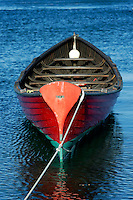 Antique wooden rowboat, Vineyard Haven, Martha's Vineyard, Massachusetts, USA