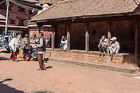 Bhaktapur, Nepal.  A Pati, a Neighborhood Shelter or Meeting Place.