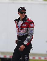 Apr 27, 2014; Baytown, TX, USA; NHRA funny car driver Bob Tasca III during the Spring Nationals at Royal Purple Raceway. Mandatory Credit: Mark J. Rebilas-
