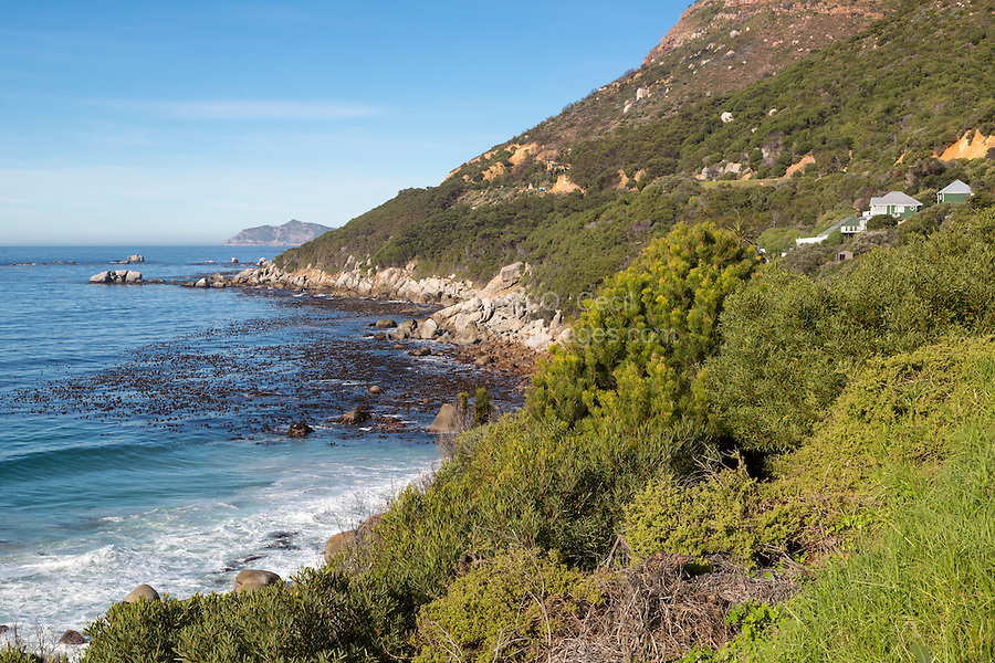 South Africa.  Looking toward Cape Point, southwesternmost point of the African continent.  False Bay on left.