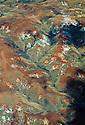 Deforestation, forest fragments and land slides (lavaka) central highlands, Madagascar.