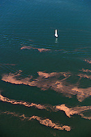 Lake Pueblo sailboat with strange water.  Aug 24, 2013. 81922