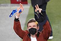 Thomas Mueller (Deutschland Germany) hat 100 Länderspiele absolviert und wurde geehrt - Stuttgart 05.09.2021: Deutschland vs. Armenien, Mercedes-Benz Arena Stuttgart