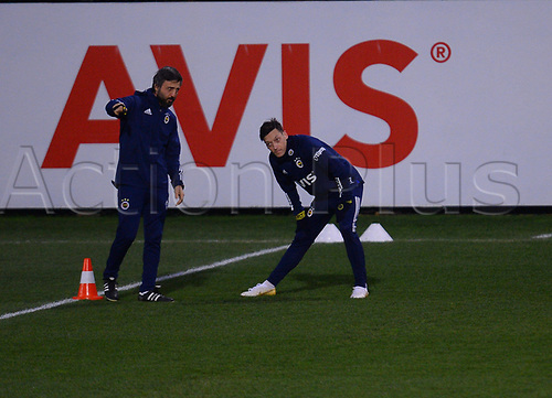 24th January 2021; Istanbul, Turkey; Mesut Ozil Training with Fenerbahce Istanbul. Ozil who signed for 3.5 years with Fenerbahce from his previous club Arsenal FC of London