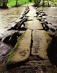 Tarr Steps, Clapper Bridge, Nr Winsford, Exmoor, Somerset. UK Celtic Britain published by Orion